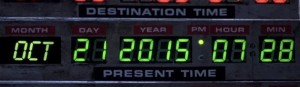 Back to the Future day photo courtesy of Back to the Future II