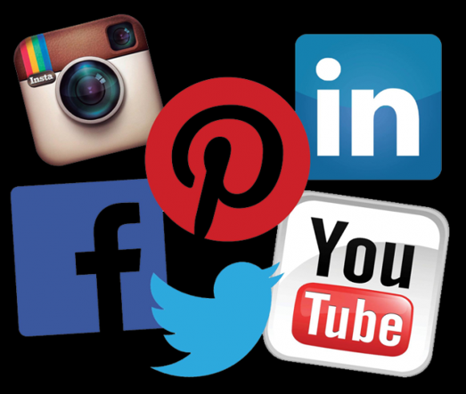 Social Media LinkedIn Pinterest Facebook Instagram YouTube Twitter